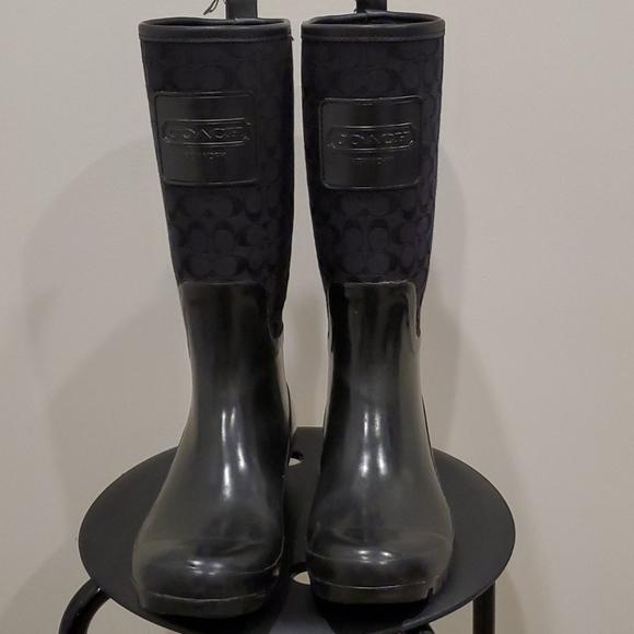 Coach Pearl rain boots